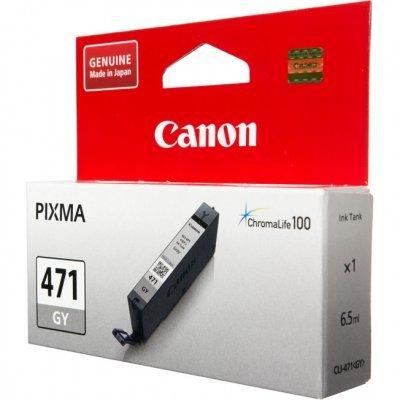 Картридж для струйных аппаратов Canon CLI-471 GY для MG7740. Серый (0404C001) картридж для принтера colouring cg cli 426c cyan