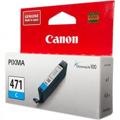 Картридж для струйных аппаратов Canon CLI-471 C для MG5740, MG6840, MG7740. Голубой (0401C001) картридж для принтера colouring cg cli 426c cyan