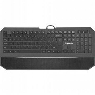 Клавиатура Defender Oscar SM-600 Pro Black USB (45602)Клавиатуры Defender<br>Клавиатура Defender проводная ММ Oscar SM-600 USB B(Черный) Pro 104+6кн, 13 доп.ф-ций,<br>