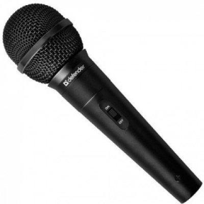 Микрофон Defender MIC-129 (64129)Микрофоны Defender<br>Микрофон Defender MIC-129 Black 5м кабель, 73дБ<br>