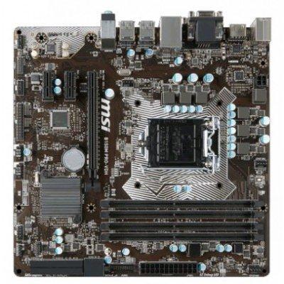 Материнская плата ПК MSI B150M PRO-VDH (B150M PRO-VDH)Материнские платы ПК MSI<br>Мат. плата MSI B150M PRO-VDH &amp;lt;S1151, B150, 4DDR4, PCI-E16x, D-SUB, HDMI, DVI, SATA III, GB Lan, USB3<br>
