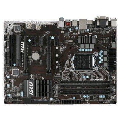 Материнская плата ПК MSI H170A PC MATE (H170A PC MATE)Материнские платы ПК MSI<br>Мат. плата MSI H170A PC MATE &amp;lt;S1151, H170, 4DDR4, 2*PCI-E16x, D-SUB, HDMI, DVI, SATA III+RAID, GB La<br>
