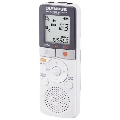 Цифровой диктофон Olympus VN-7800 (OLP-VN-7800)Цифровые диктофоны Olympus<br>Носитель: флеш память; Объем встроенной памяти: 4096 МБ; Частотный диапазон: 150Гц-7.9КГц; ЖК дисплей: ДА; Формат записи: собственный; Встроенный микрофон: ДА; Встроенный динамик: ДА; Микрофонный вход: ДА; Стандартный выход на наушники: ДА;<br>