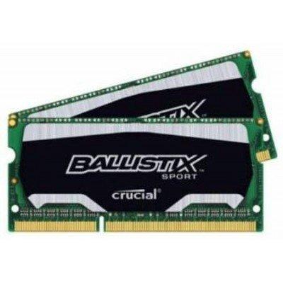 Модуль оперативной памяти ПК Crucial BLS2C4G3N18AES4CEU 8Gb DDR3 (BLS2C4G3N18AES4CEU)Модули оперативной памяти ПК Crucial<br>Crucial 8GB Kit (4GBx2) DDR3 1866 MT/s (PC3-14900) CL10 @1.35V Ballistix Sport SODIMM 204pin<br>