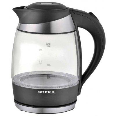 Электрический чайник Supra KES-2009 (KES-2009)Электрические чайники Supra<br>чайник<br>объем 1.8 л<br>мощность 2200 Вт<br>закрытая спираль<br>установка на подставку в любом положении<br>корпус из пластика и стекла<br>индикация включения<br>подсветка корпуса<br>вес 1.1 кг<br>