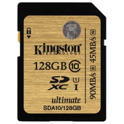 Карта памяти Kingston 128GB SDHC Class 10 SDA10/128GB UHS-I Ultimate (SDA10/128GB)Карты памяти Kingston<br><br>