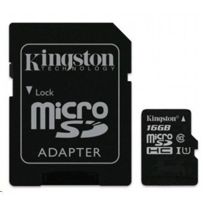 все цены на  Карта памяти Kingston 16GB microSDHC Class 10 SDC10G2/16GB UHS-I (SDC10G2/16GB)  онлайн
