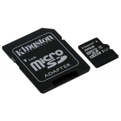 Карта памяти Kingston 32GB microSDHC Class 10 SDC10G2/32GB UHS-I (SDC10G2/32GB) micro securedigital 32gb hc kingston uhs 1 class 10 sdc10g2 32gbsp