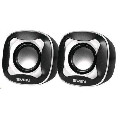 Компьютерная акустика SVEN 170 чёрный-белый (SV-013523) цена 2017