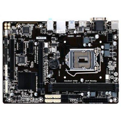 Материнская плата ПК Gigabyte GA-B85M-HD3 R4 (rev. 1.0) (GA-B85M-HD3 R4)Материнские платы ПК Gigabyte<br>Материнская плата Gigabyte GA-B85M-HD3 R4 Soc-1150 Intel B85 2xDDR3 mATX AC`97 8ch(7.1) GbLAN+VGA+DVI+HDMI<br>