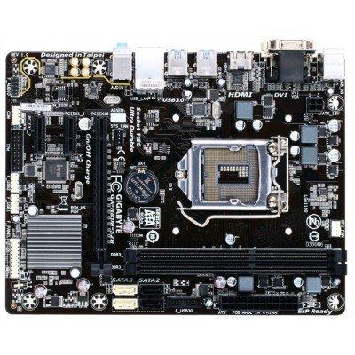 Материнская плата ПК Gigabyte GA-H81M-S2H (GA-H81M-S2H)Материнские платы ПК Gigabyte<br>Материнская плата Gigabyte GA-H81M-S2H Soc-1150 Intel H81 2xDDR3 mATX AC`97 8ch(7.1) GbLAN+VGA+DVI+HDMI<br>