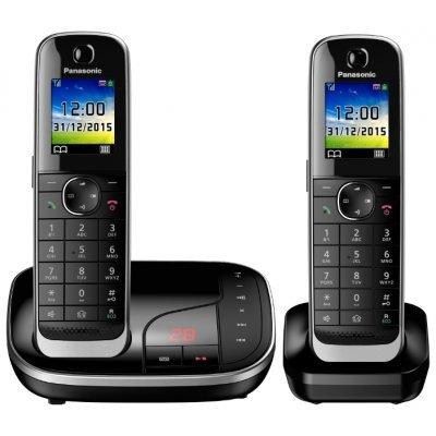 Радиотелефон Panasonic KX-TGJ322 (KX-TGJ322RUB)Радиотелефоны Panasonic<br>комплект из базы и двух трубок<br>поддержка стандартов DECT/GAP<br>цифровой автоответчик на 40 минут<br>громкая связь (спикерфон)<br>определитель номеров (АОН/Caller ID)<br>аккумуляторы: AAAx2<br>цветной дисплей на трубке<br>полифонические мелодии<br>
