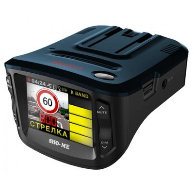 Радар-детектор Sho-Me Combo №1-А7 (COMBO №1-А7)Радар-детекторы Sho-Me<br>видеорегистратор с камерой<br>запись видео 1920x1080<br>с экраном 2.31<br>датчик удара (G-сенсор), GPS<br>работа от аккумулятора<br>угол обзора 130°<br>встроенная память 128 Мб<br>поддержка карт памяти microSD (microSDHC)<br>радар-детектор<br>