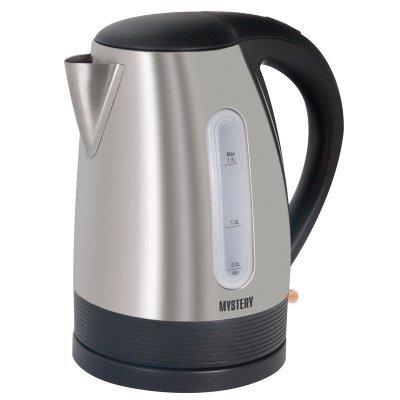 Электрический чайник Mystery MEK-1633 (MEK-1633)Электрические чайники Mystery<br>Чайник электрический Mystery MEK-1633 серебристый 1.7л. 2000Вт (корпус: нержавеющая сталь)<br>