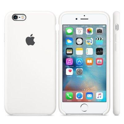Чехол для смартфона для iPhone 6S MKY12ZM/A белый (MKY12ZM/A) (MKY12ZM/A) apple чехол клип кейс apple для apple iphone 6s plus mm692zm a светло зеленый