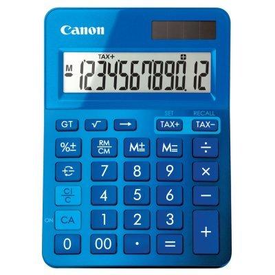 Калькулятор Canon LS-123K-MBL (LS-123K-MBL)Калькуляторы Canon<br>Калькулятор настольный Canon LS-123K-MBL синий 12-разр.<br>