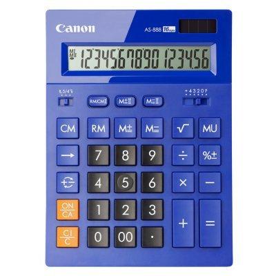 Калькулятор Canon AS-888-BL (AS-888-BL)Калькуляторы Canon<br>Калькулятор бухгалтерский Canon AS-888-BL синий 16-разр.<br>
