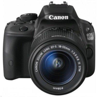 Цифровая фотокамера Canon EOS 100D EF-S 18-55mm (8576B013)Цифровые фотокамеры Canon<br>Зеркальный Фотоаппарат Canon EOS 100D черный 18Mpix EF-S 18-55mm f/3.5-5.6 DCIII 3 1080p Full HD SDXC Li-ion<br>