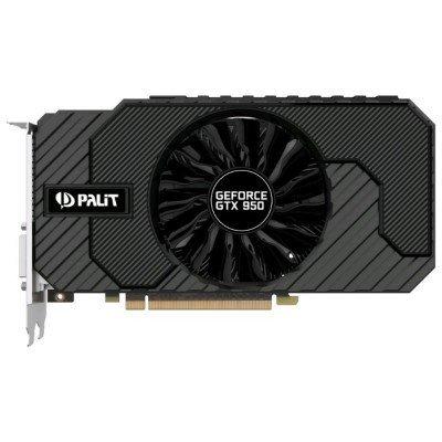 Видеокарта ПК Palit GeForce GTX 950 1026Mhz PCI-E 3.0 2048Mb 6610Mhz 128 bit 2xDVI HDMI HDCP (NE5X95001041-2063F)Видеокарты ПК Palit<br>Видеокарта Palit PCI-E PA-GTX950 StormX 2G nVidia GeForce GTX 950 2048Mb 128bit GDDR5 1026/6610 DVIx2/HDMIx1/DPx1/HDCP Ret<br>