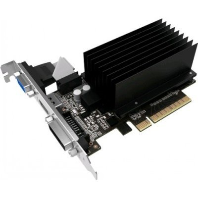 Видеокарта ПК Palit GeForce GT 730 902Mhz PCI-E 2.0 2048Mb 1804Mhz 64 bit DVI HDMI HDCP Silent (NEAT7300HD46-2080H BULK) видеокарта 6144mb msi geforce gtx 1060 gaming x 6g pci e 192bit gddr5 dvi hdmi dp hdcp retail