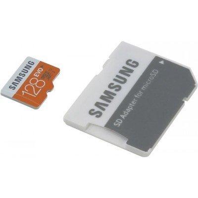Карта памяти Samsung 128GB MicroSDXC EVO Class 10 / U1 (UHS-I) + SD адаптер (MB-MP128DA) (MB-MP128DA/RU)Карты памяти Samsung<br>up to 48MB/s transfer speed<br>