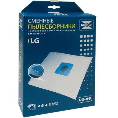 Пылесборник для пылесоса Neolux LG 06 (NEOLUX LG 06)Пылесборники для пылесосов Neolux<br>LG 06 Пылесборник синтетич., 4шт/уп., д/пыл.LG(ориг.код TB33,TB34,TB39) NEOLUX<br>