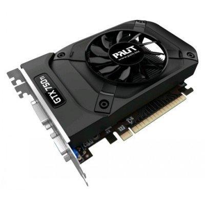 Видеокарта ПК Palit GeForce GTX 750 Ti 1085Mhz PCI-E 3.0 2048Mb 5500Mhz 128 bit DVI Mini-HDMI HDCP (NE5X75TS1341-1073F)