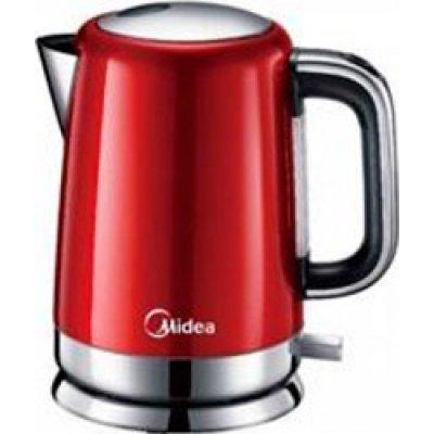 Электрический чайник Midea MK-M317C2A-RD (MK-M317C2A-RD)Электрические чайники Midea<br>Чайник электрический Midea MK-M317C2A-RD корпус и база из нержавеющей стали, объем 1.7л, мошность 2200<br>