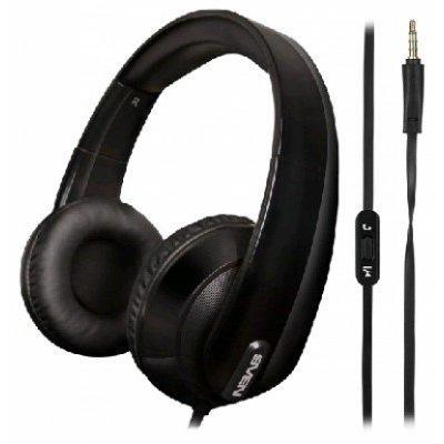Наушники SVEN AP-945MV (SV-0410945MVBK)Наушники SVEN<br>Гарнитура SVEN AP-945MV наушники: 18 – 20000 микрофон: 30 – 16000  1,2м  черные<br>