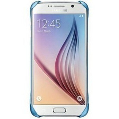 Чехол для смартфона Samsung для Galaxy S6 Protective Cover голубой (EF-YG920BLEGRU) (EF-YG920BLEGRU) чехол клип кейс samsung protective standing cover great для samsung galaxy note 8 темно синий [ef rn950cnegru]