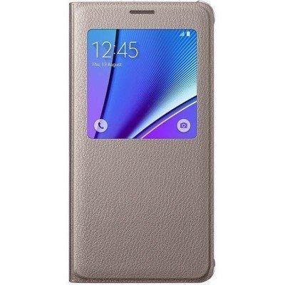 Чехол для смартфона Samsung для Galaxy Note 5 S View золотистый (EF-CN920PFEGRU) (EF-CN920PFEGRU) чехол для samsung galaxy note 5 n920 samsung glossycover золотистый