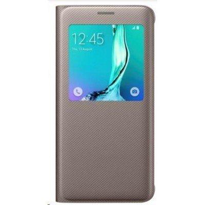 Чехол для смартфона Samsung для Galaxy S6 Edge+ S View G928 золотистый (EF-CG928PFEGRU) (EF-CG928PFEGRU)Чехлы для смартфонов Samsung<br>Чехол Samsung для Samsung Galaxy S6 Edge Plus S View G928 золотистый (EF-CG928PFEGRU)<br>