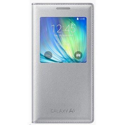 Чехол для смартфона Samsung для Galaxy A5 S-View серебристый (EF-CA500BSEGRU) (EF-CA500BSEGRU)Чехлы для смартфонов Samsung<br>Чехол (флип-кейс) Samsung для Samsung Galaxy A5 S-View серебристый (EF-CA500BSEGRU)<br>