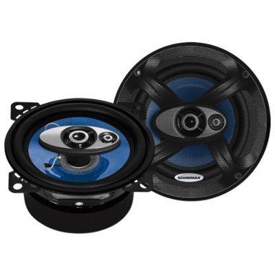 Колонки автомобильные Soundmax SM-CSC403 (SM-CSC403)Колонки автомобильные Soundmax<br>трехполосная коаксиальная АС<br>типоразмер: 10 см (4 дюйм.)<br>номинальная мощность 50 Вт<br>максимальная мощность 100 Вт<br>чувствительность 91 дБ<br>импеданс 4 Ом<br>диапазон частот 100 - 20000 Гц<br>