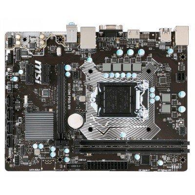 Материнская плата ПК MSI H110M PRO-VH (H110M PRO-VH)Материнские платы ПК MSI<br>MSI H110M PRO-VH (Socket 1151, intel H110, 2DDR4, PCIe x16, PCIe x1, SATA6Gb/s, USB3.1 Gen1, GbE LAN , VGA, HDMI, mATX<br>