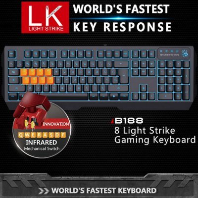 Клавиатура A4Tech Bloody B188 (B188) клавиатура asus strix tactic pro black multimedia gamer led usb