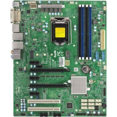 Материнская плата сервера SuperMicro MBD-X11SAE-O (MBD-X11SAE-O)Материнские плата серверов SuperMicro<br>6thGeni7/i5/i3, Pent, Celeron/ UpTo4UDIMMnonECC/ 8x SATA3/ C236 RAID 0/1/5/10/ 2xGE/ 2xPCIx16, 3xPCI-Ex1,2x5<br>