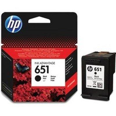 Картридж для струйных аппаратов HP C2P10AE (№651) для DeskJet Ink Advantage 5645, 5575. Чёрный. 600 страниц. (C2P10AE)