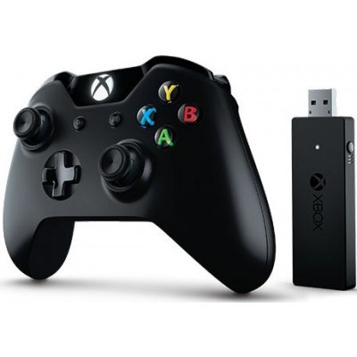 Геймпад для игровой приставки Microsoft Xbox One+ Wireless Adapter for Windows 10 (NG6-00003)Геймпады для игровых приставок Microsoft<br>беспроводной геймпад для Xbox One, ПК и планшетов с операционной системой Windows 10<br>