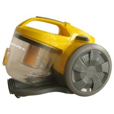 Пылесос Supra VCS-1624 желтый/серый (VCS-1624 желтый/серый)Пылесосы Supra<br>пылесос<br>сухая уборка<br>с циклонным фильтром<br>без мешка для сбора пыли<br>мощность всасывания 340 Вт<br>пылесборник на 2.5 л<br>работа от сети<br>потребляемая мощность 1600 Вт<br>вес 5 кг<br>