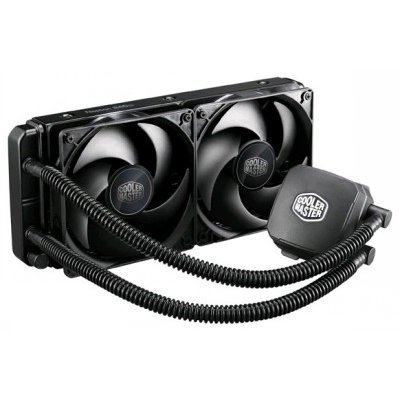 Кулер для процессора CoolerMaster Nepton 240M (RL-N24M-24PK-R1)Кулеры для процессоров CoolerMaster<br>Nepton 240M, 240 x 27mm Radiator, 2x 120mm Fan, 800 - 2400 RPM, Full Socket Support<br>