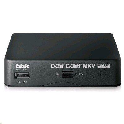 ТВ-тюнер внешний BBK SMP131HDT2 темно-серый (SMP131HDT2 темно-серый)ТВ-тюнеры внешние BBK<br>Цифровой телевизионный DVB-T2 ресивер BBK SMP131HDT2 темно-серый<br>