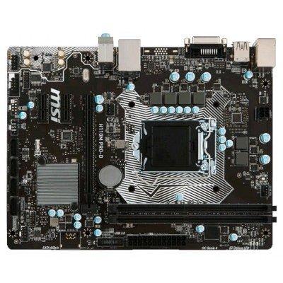 Материнская плата ПК MSI H110M PRO-D (H110M PRO-D)Материнские платы ПК MSI<br>Мат. плата MSI H110M PRO-D &amp;lt;S1151, H110, 2DDR4, PCI-E16x, DVI, SATA III, GB Lan, USB3.0, ATX, Retail&amp;gt;<br>