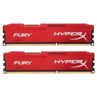 Модуль оперативной памяти ПК Kingston HX313C9FRK2/8 8Gb DDR3 (HX313C9FRK2/8)Модули оперативной памяти ПК Kingston<br>Kingston 8GB 1333MHz DDR3 CL9 DIMM (Kit of 2) HyperX FURY Red Series<br>