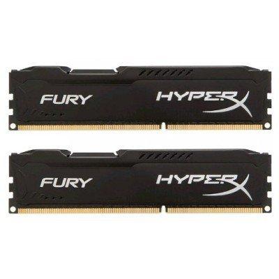 Модуль оперативной памяти ПК Kingston HX313C9FBK2/8 8Gb DDR3 (HX313C9FBK2/8)Модули оперативной памяти ПК Kingston<br>Kingston 8GB 1333MHz DDR3 CL9 DIMM (Kit of 2) HyperX FURY Black Series<br>