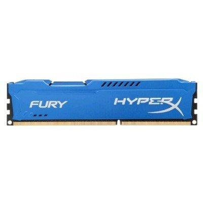 Модуль оперативной памяти ПК Kingston HX313C9F/4 4Gb DDR3 (HX313C9F/4)Модули оперативной памяти ПК Kingston<br>Kingston 4GB 1333MHz DDR3 CL9 DIMM HyperX FURY Blue Series<br>