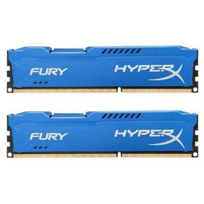 Модуль оперативной памяти ПК Kingston HX318C10FK2/8 8Gb DDR3 (HX318C10FK2/8)Модули оперативной памяти ПК Kingston<br>Kingston 8GB 1866MHz DDR3 CL10 DIMM (Kit of 2) HyperX FURY Blue Series<br>