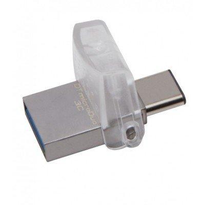USB накопитель Kingston DTDUO3/32GB (DTDUO3/32GB)USB накопители Kingston<br>Kingston 32GB DT microDUO USB 3.0 OTG<br>