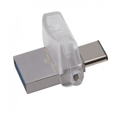 USB накопитель Kingston DTDUO3C/32GB (DTDUO3C/32GB)USB накопители Kingston<br>Kingston 32GB DT microDuo 3C, USB 3.0/3.1 + Type-C flash drive<br>