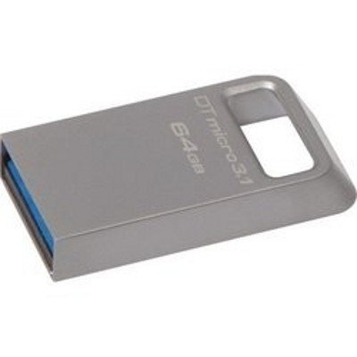 USB накопитель Kingston DTMC3/64GB (DTMC3/64GB)USB накопители Kingston<br>Kingston 64GB DTMicro USB 3.1/3.0 Type-A (Metal casing) ultra-compact flash drive speed performance read 100MB/s<br>